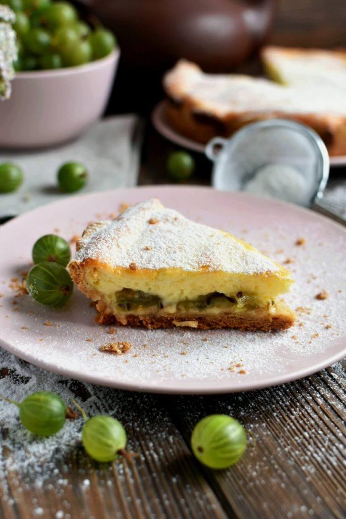 Homemade Rustic Gooseberry Tart
