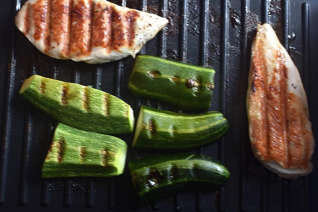 Grilled Basil Chicken and Zucchini recipe - step 5