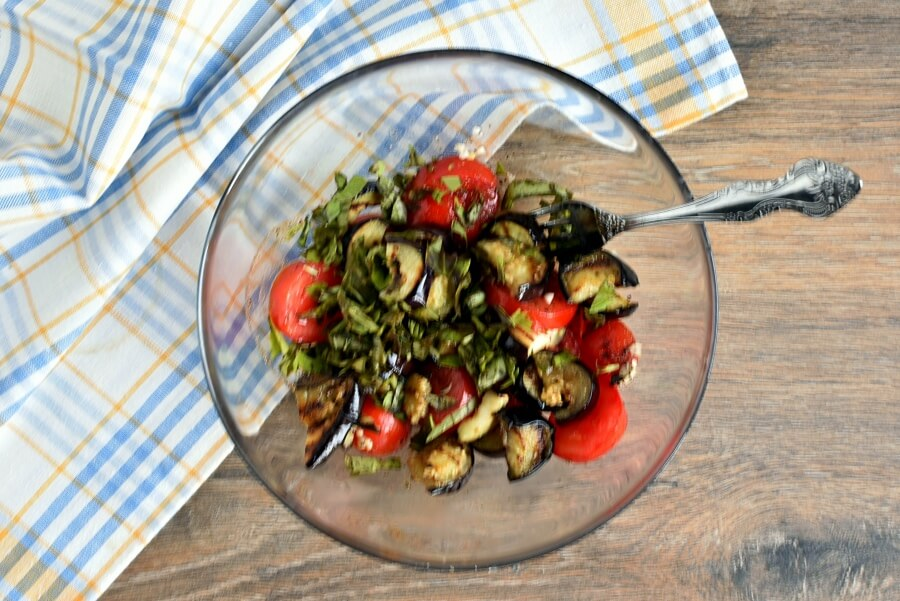 Grilled Eggplant and Tomato Pasta recipe - step 5
