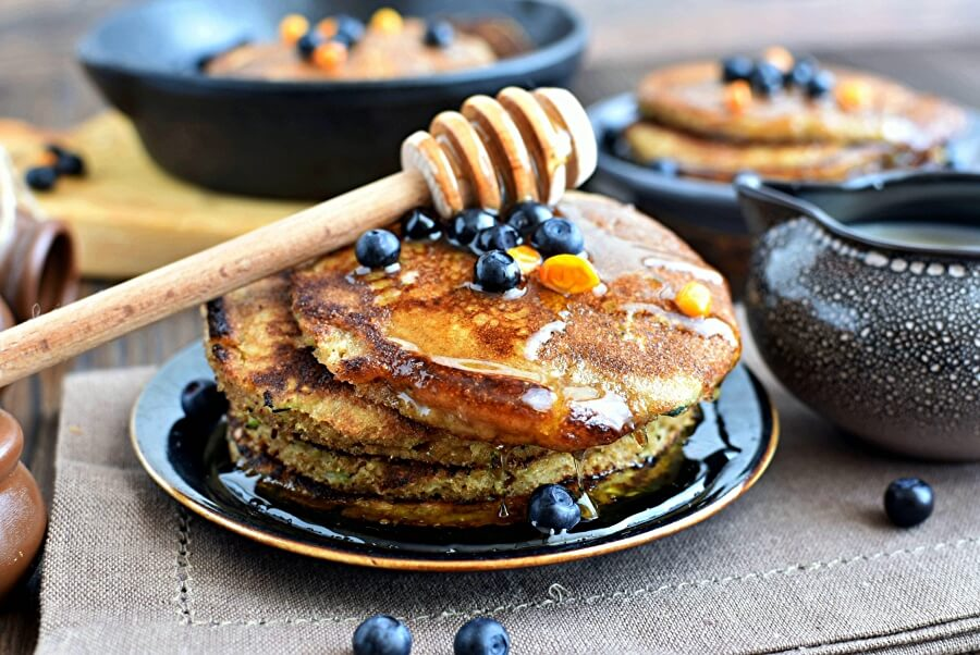 How to serve Healthy Greek Yogurt Zucchini Pancakes