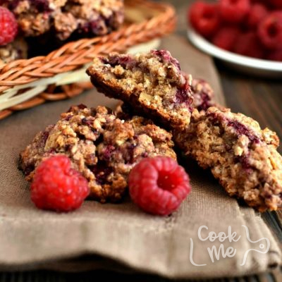 Healthy Raspberry Oatmeal Cookies Recipe-Homemade Healthy Raspberry Oatmeal Cookies-Delicious Healthy Raspberry Oatmeal Cookies