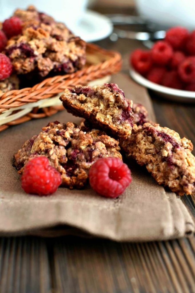 Soft and Chewy Raspberry Stuffed Cookies