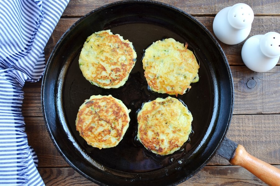 Irish Zucchini and Potato Pancakes recipe - step 5