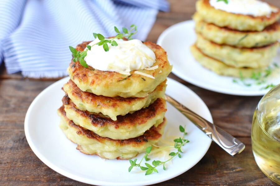 How to serve Irish Zucchini and Potato Pancakes