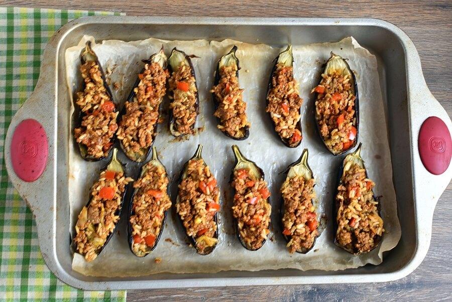 Gluten Free Lamb Stuffed Eggplant recipe - step 10