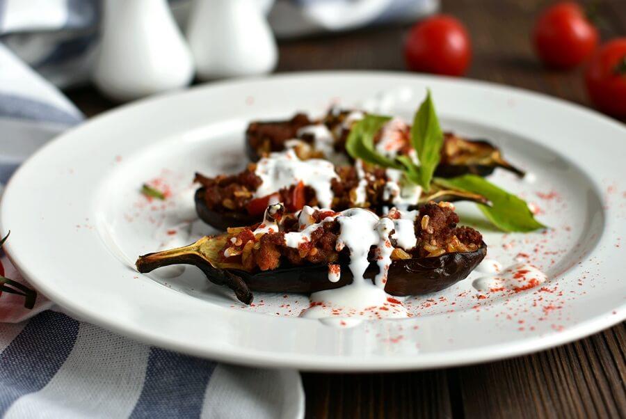 How to serve Gluten Free Lamb Stuffed Eggplant