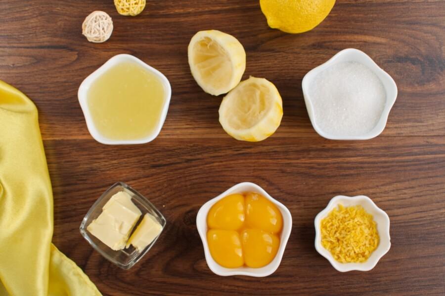 Ingridiens for Lemon Curd