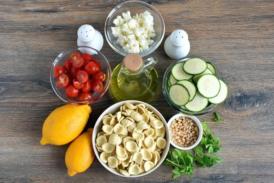 Ingridiens for Lemon-Pignoli Zucchini Pasta