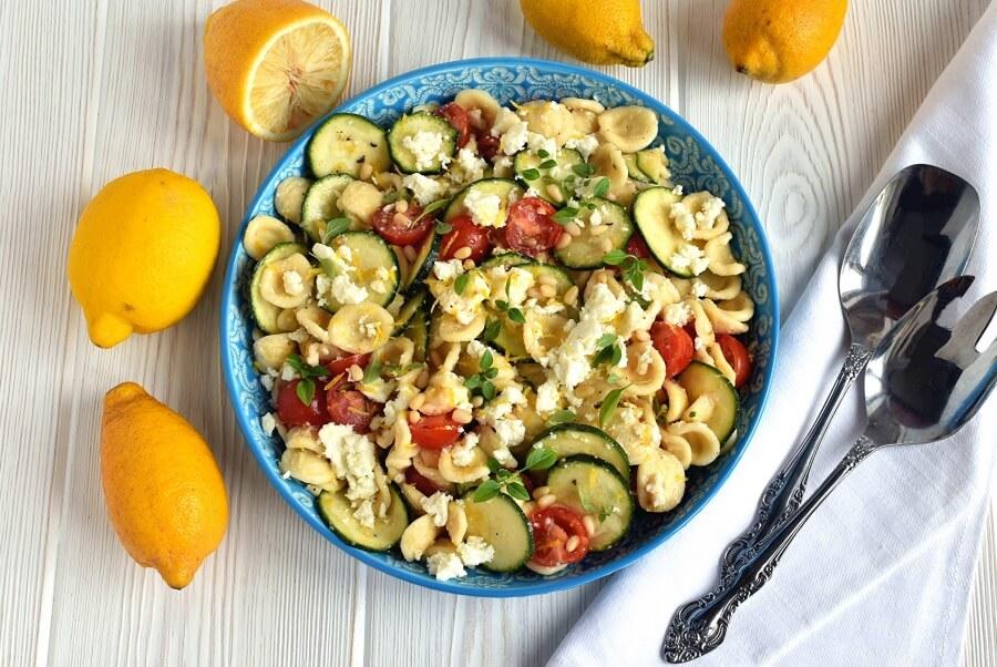 How to serve Lemon-Pignoli Zucchini Pasta