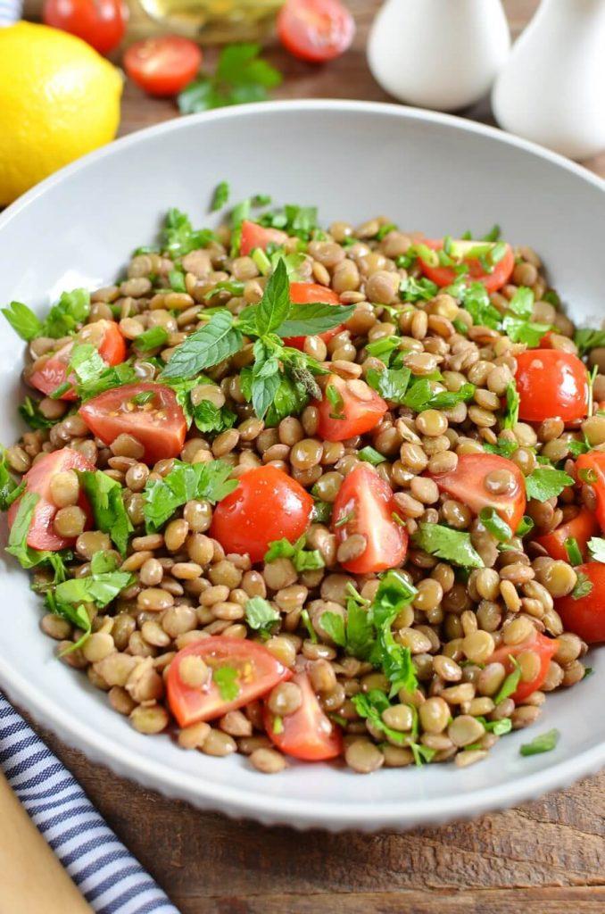 Side Salad or Full Dinner Lentil Tabbouleh