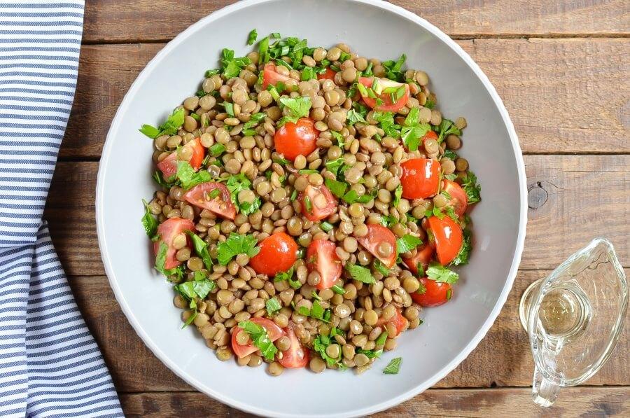Vegan Lentil Tabbouleh recipe - step 3