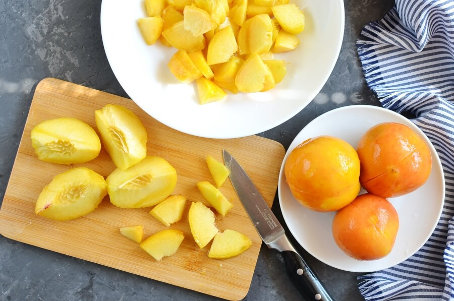 Peach Marmalade (No Pectin) recipe - step 1