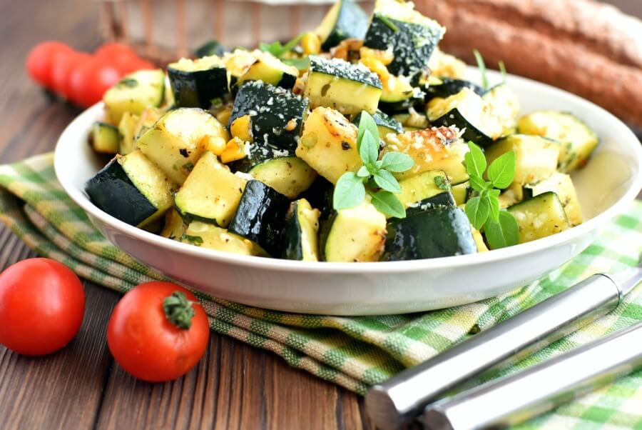How to serve Parmesan Zucchini and Corn