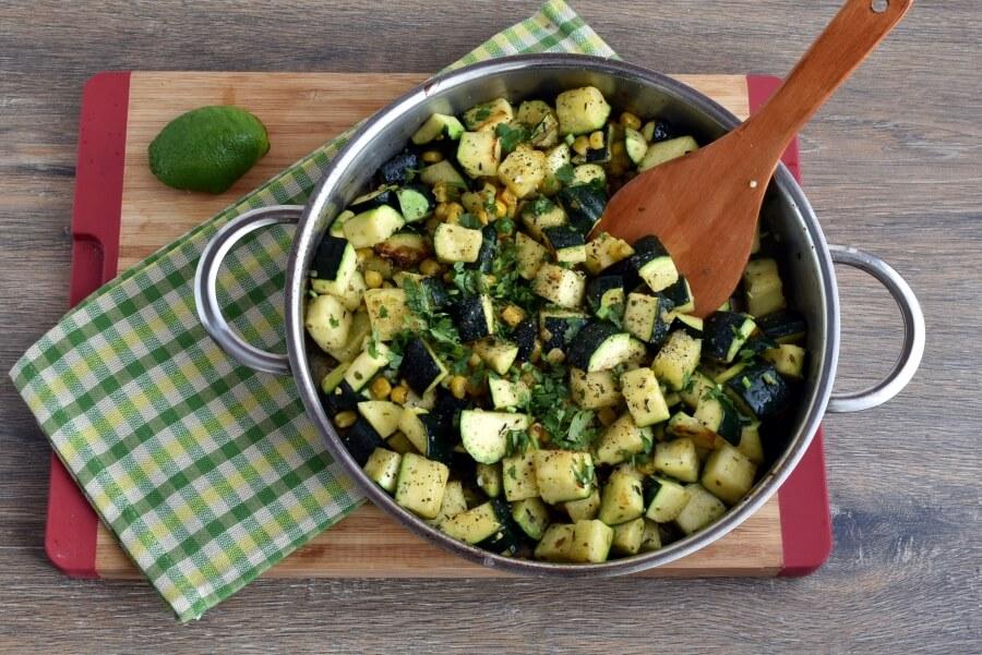 Parmesan Zucchini and Corn recipe - step 4