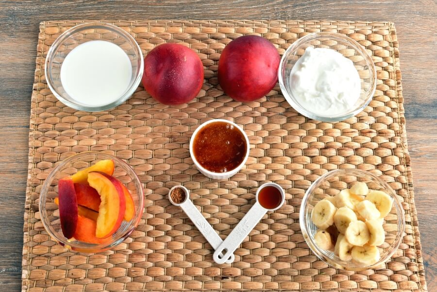 Ingridiens for Peach-Banana Smoothie Popsicles