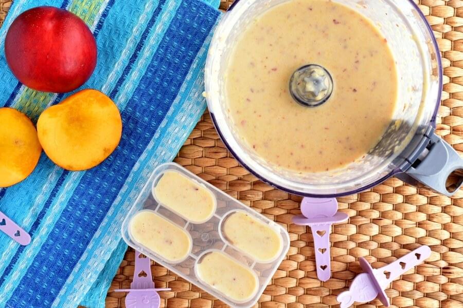 Peach-Banana Smoothie Popsicles recipe - step 2