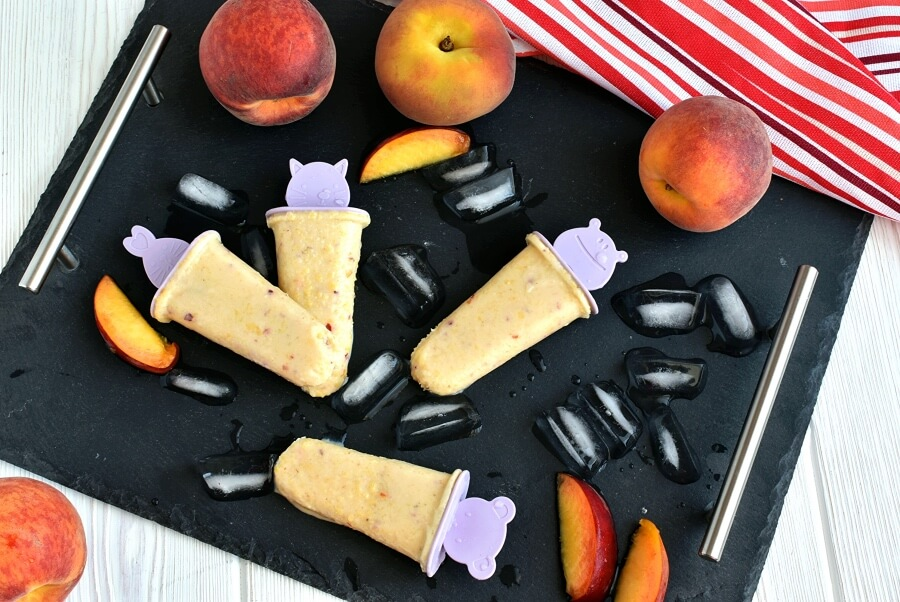 How to serve Peach-Banana Smoothie Popsicles