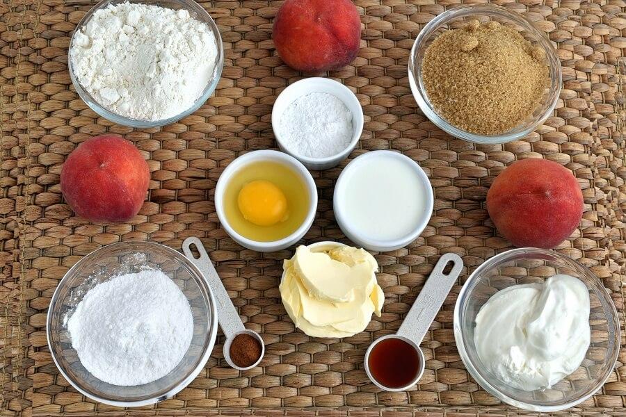 Peach Cobbler Coffee Cake Recipe- How to make Peach Cobbler Coffee Cake-Delicious Peach Cobbler Coffee Cake