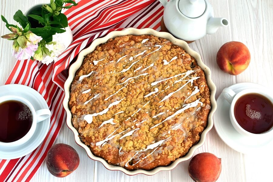 How to serve Peach Cobbler Coffee Cake
