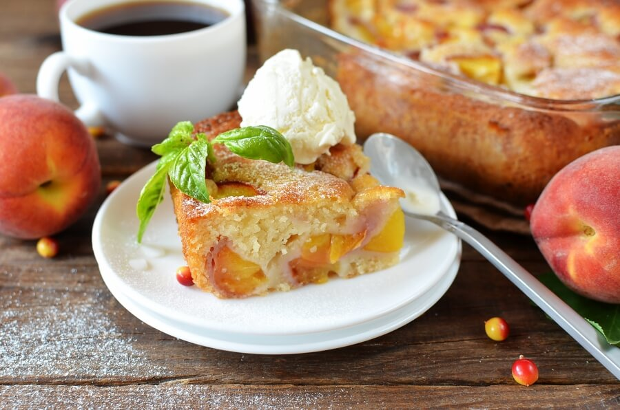 How to serve Peach Cobbler Snack Cake