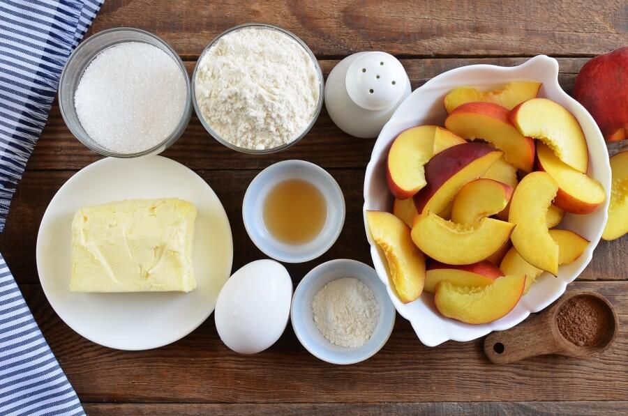 Peach Kuchen Recipe-How To Make Peach Kuchen-Delicious Peach Kuchen