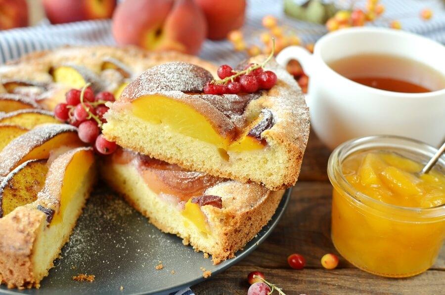 How to serve Peach Kuchen