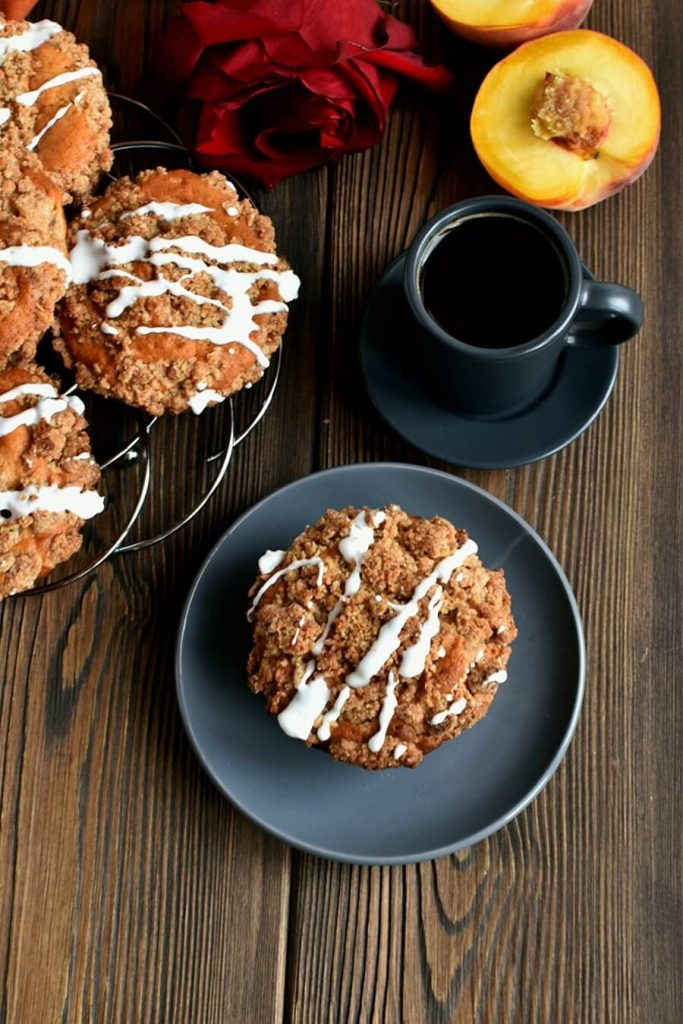 Peach Streusel Muffins Recipe-How to make Peach Streusel Muffins-Delicious Peach Streusel Muffins