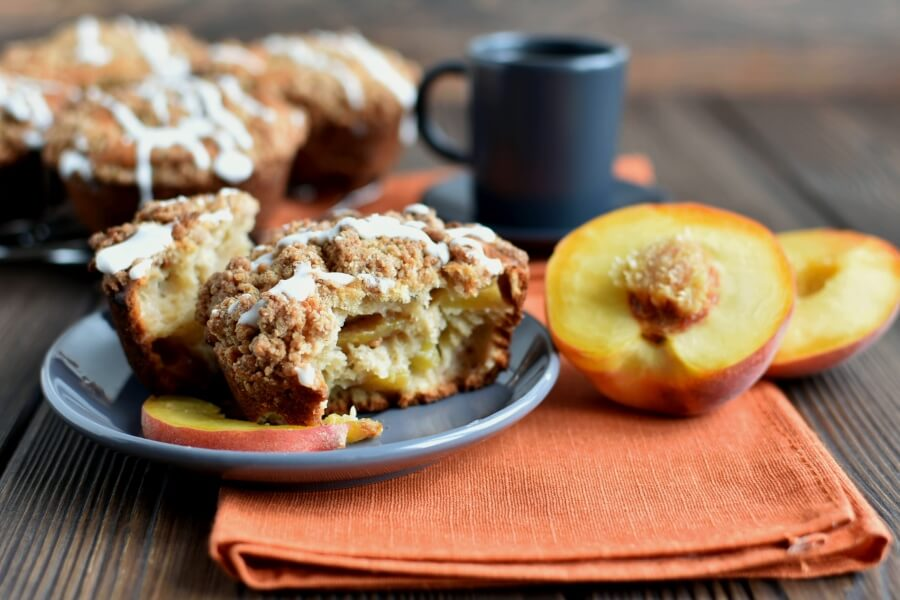 How to serve Peach Streusel Muffins