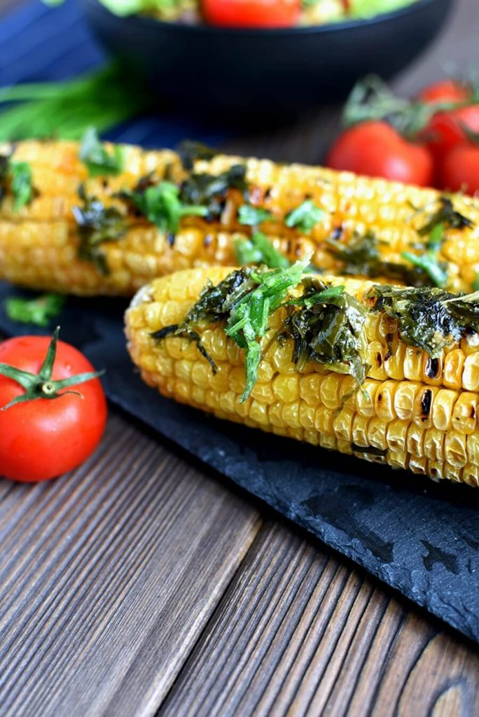 Dairy free grilled corn on the cob