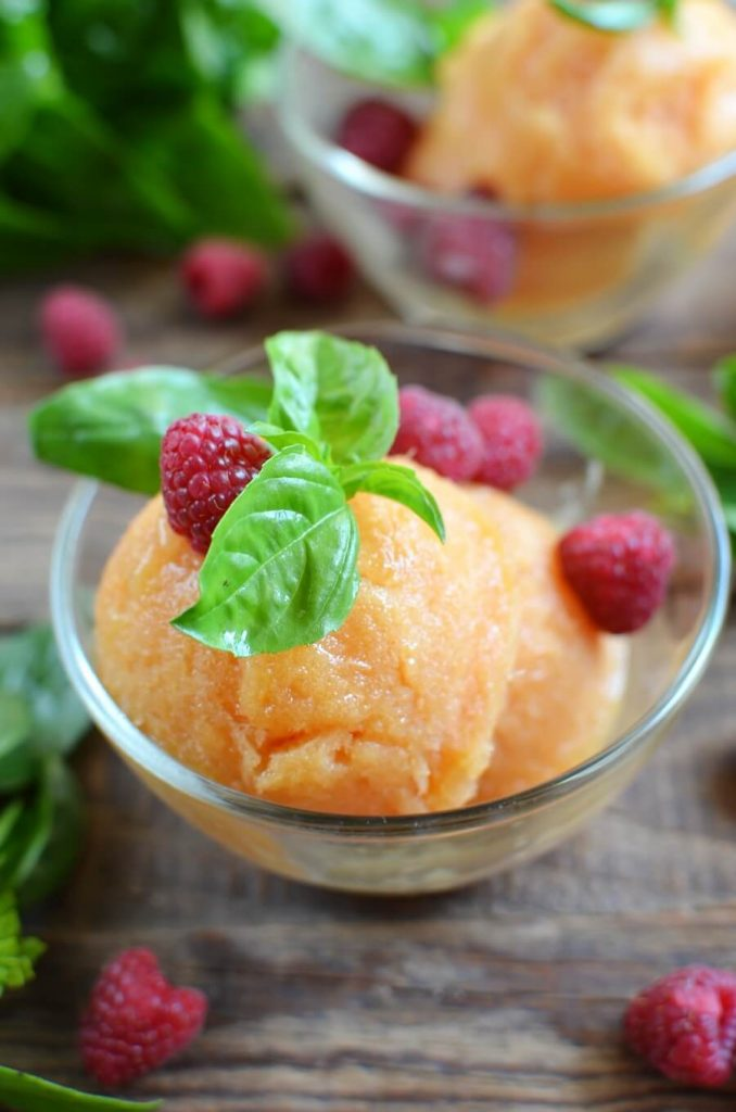 Juicy vegan alternative to ice cream