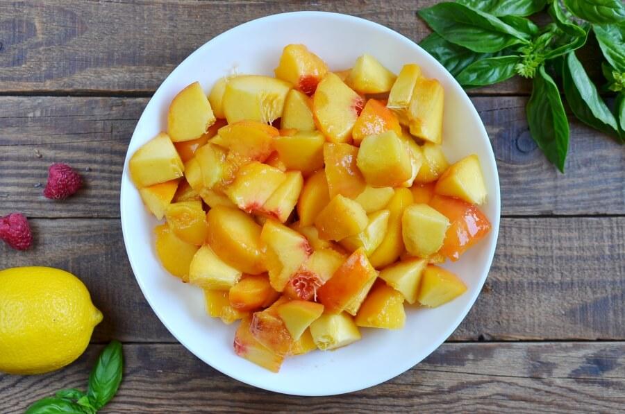 Raspberries with Peach-Basil Sorbet recipe - step 4