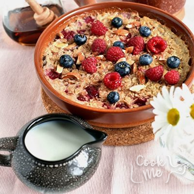 Raspberry Almond Baked Oatmeal Recipe-Homemade Raspberry Almond Baked Oatmeal-Delicious Raspberry Almond Baked Oatmeal3