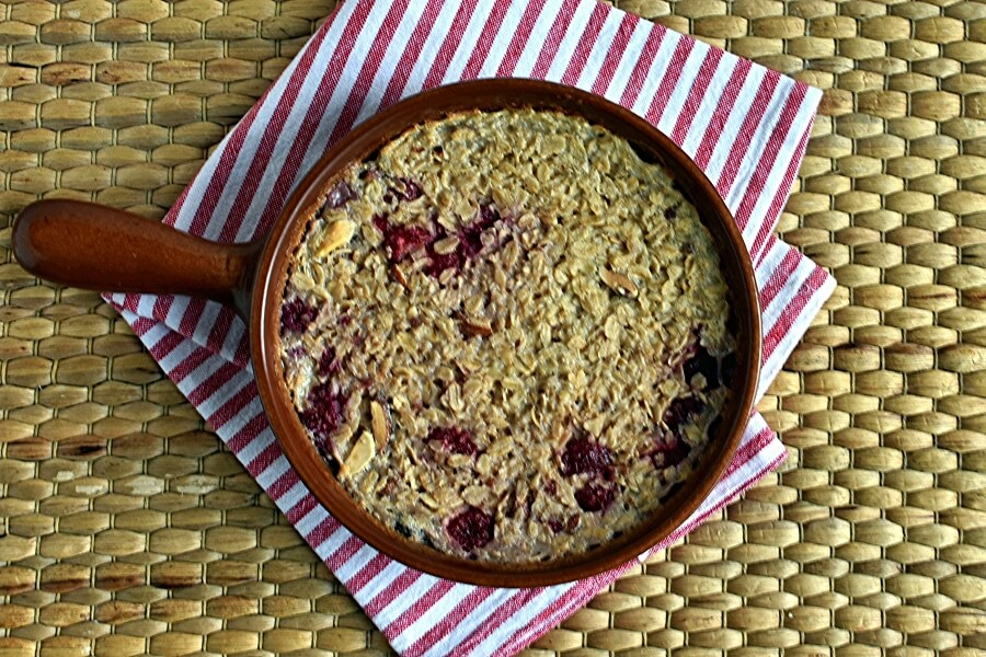 Vegan Raspberry Almond Baked Oatmeal recipe - step 6