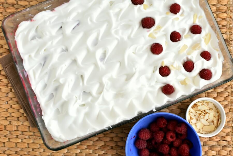 Raspberry Almond Poke Cake recipe - step 10