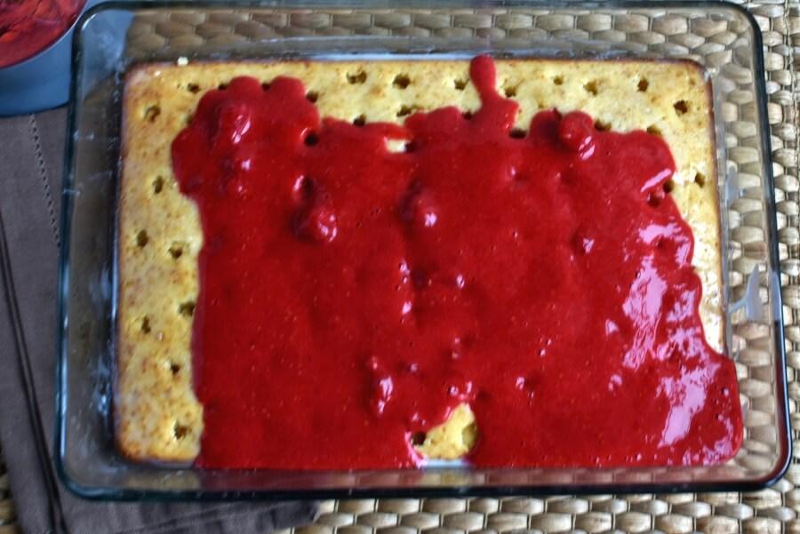 Raspberry Almond Poke Cake recipe - step 7