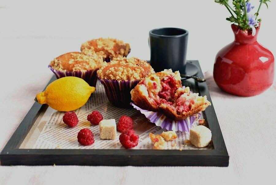 How to serve Raspberry Lemon Crumb Muffins