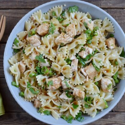 Sesame Pasta Chicken Salad recipe - step 4