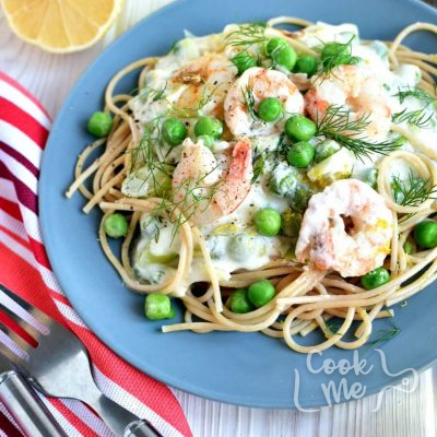 Shrimp and Leek Spaghetti Recipe-Homemade Shrimp and Leek Spaghetti-Delicious Shrimp and Leek Spaghetti