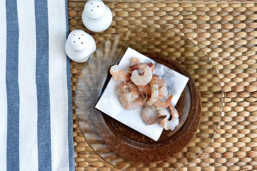 Shrimp and Leek Spaghetti recipe - step 2