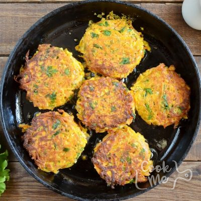 Spiced Carrot Fritters recipe - step 5