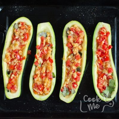 Stuffed Courgettes with Rocket Salad recipe - step 8