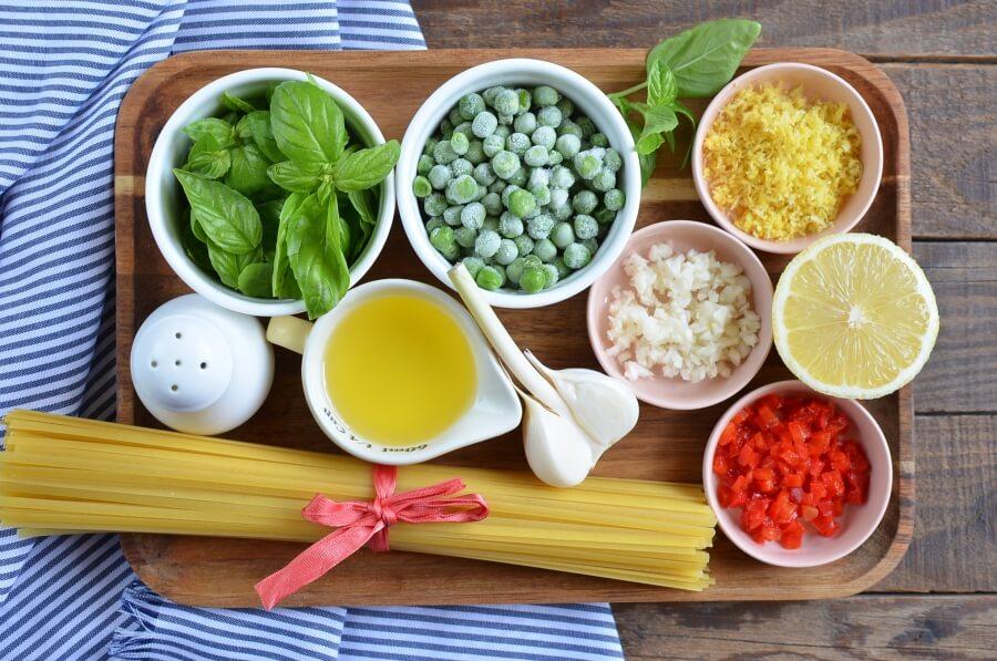 Ingridiens for Summer Pea Pasta