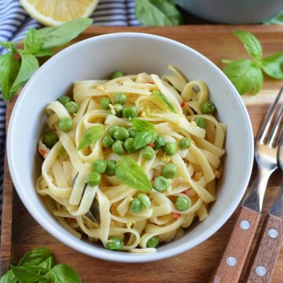 Summer Pea Pasta Recipe-Homemade Summer Pea Pasta-Delicious Summer Pea Pasta