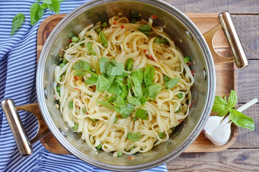 How to serve Summer Pea Pasta