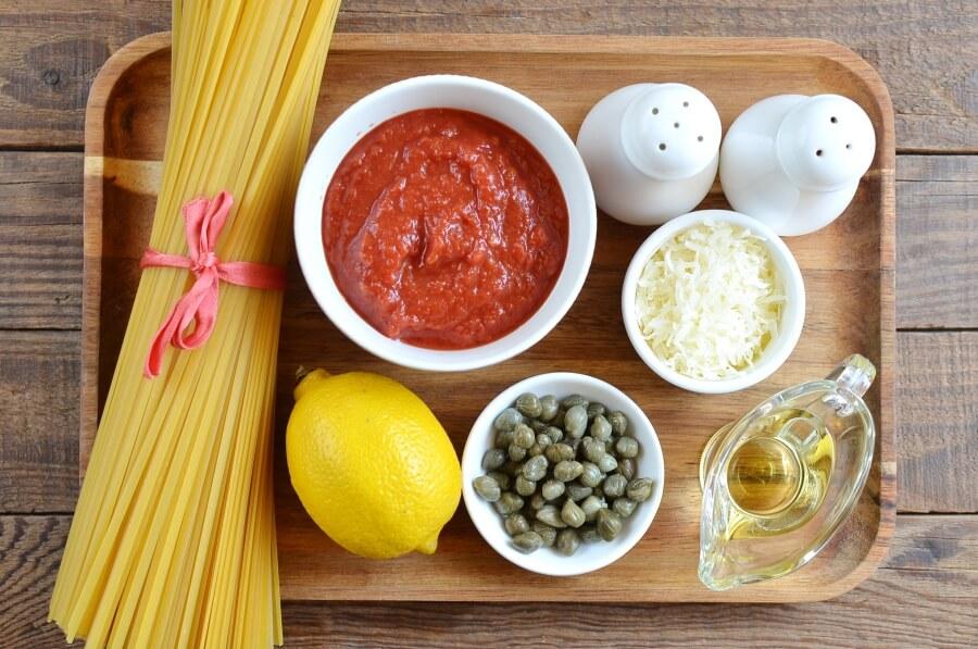 Tomato & caper linguine Recipe-How To Make Tomato & caper linguine-Delicious Tomato & caper linguine