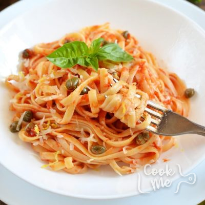Tomato & caper linguine Recipe-How To Make Tomato & caper linguine-Delicious Tomato & caper linguine