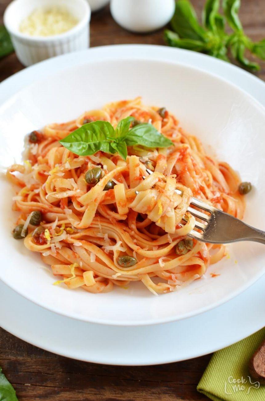 Tomato and Caper Linguine