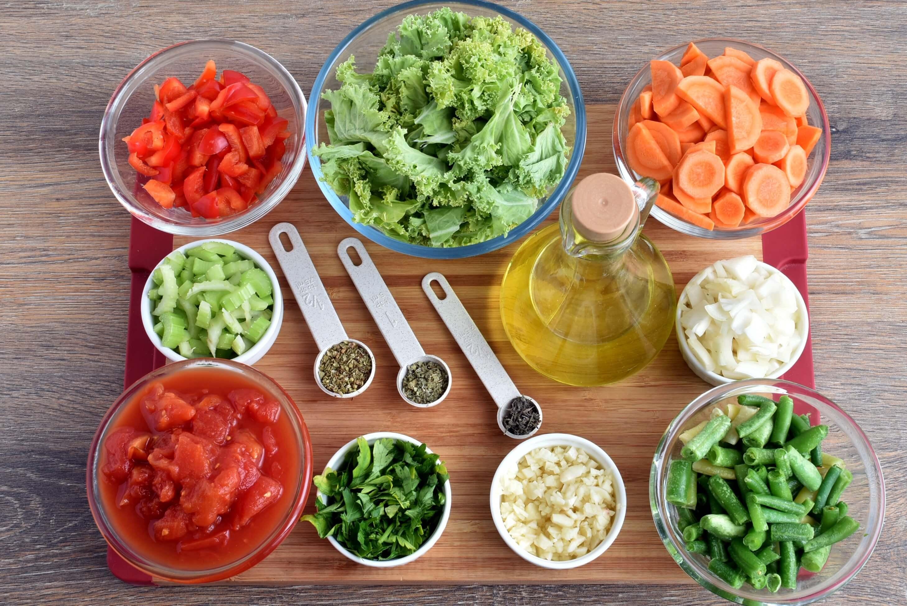 Ingridiens for Vegan Detox Soup