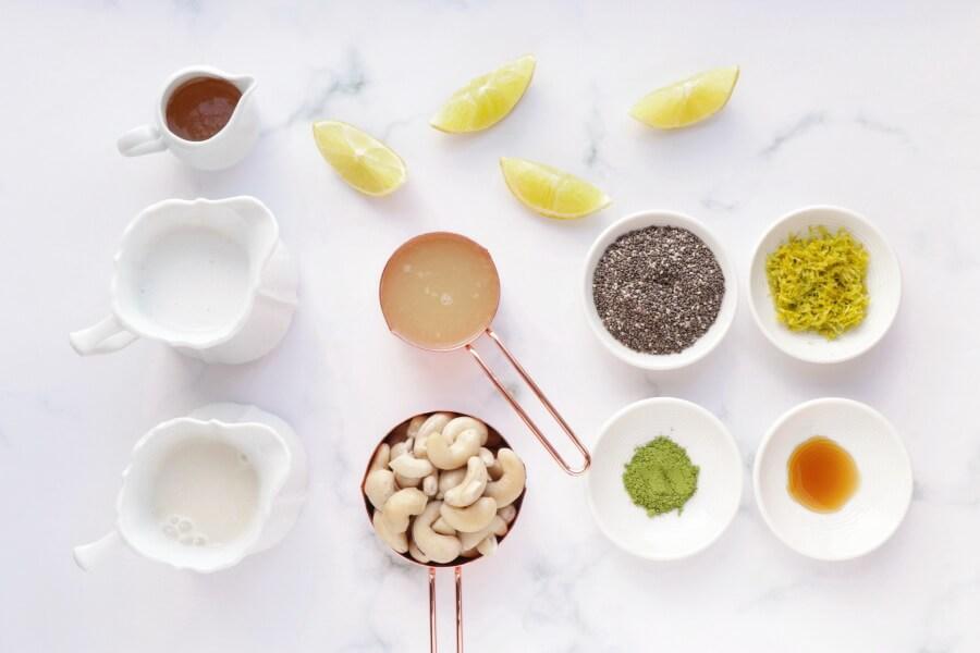 Ingridiens for Vegan Key Lime Pie Chia Pudding