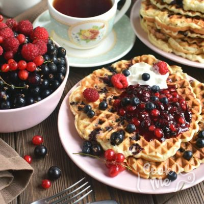 Vegan Triple Berry Waffles Recipe-Homemade Vegan Triple Berry Waffles -Delicious Vegan Triple Berry Waffles